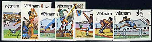 Vietnam 1992 Olympic Games(1984)(very scarce with only a limited number issued thus) GYMNASTICS FOOTBALL WRESTLING VOLLEYBALL HURDLES BASKETBALL WEIGHTLIFTING JandRStamps