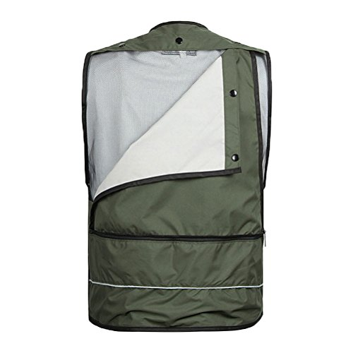 Zhhlinyuan praktisch Mens Quality Vest Waistcoat Jacket for Camping Hunting Fishing Photography Khaki