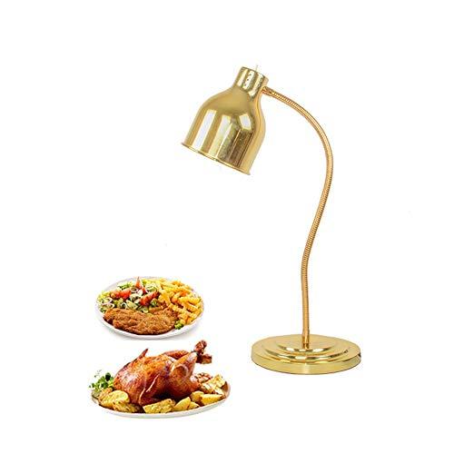 Rshjd commerciale lampada riscaldante, scaldavivande lampada con lampadina riscaldante usato per buffet alberghi cucina, mantieni il cibo caldo, 250wgolden