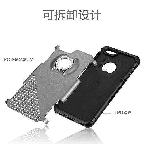 Iphone 6S/6 Plus Case,Lantier Heavy Duty Hybrid TUFF impact antichoc 2 en 1 Disque souple en silicone TPU avec anneau Béquille Small Circle Cover-Fashion Protect pour Apple Iphone 6S/6Plus [Rose] 6S/6Plus Grey