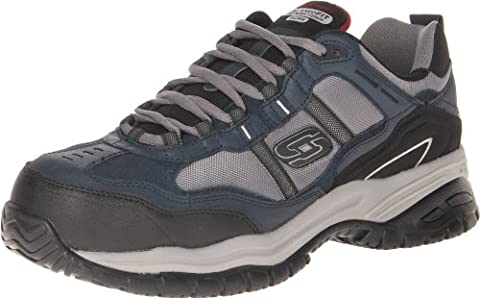 Skechers For Work 77013 Soft Stride Grinnel Slip Resistant Steel Toe Work Shoe