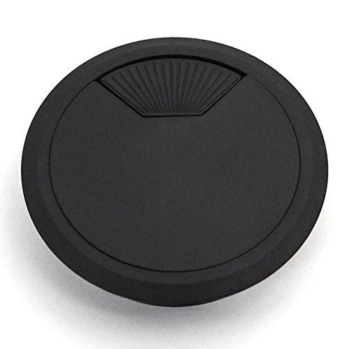 2 Stück SO-TECH® Kunststoff Kabeldurchführung Kabeldurchlass Ø 80 mm schwarz