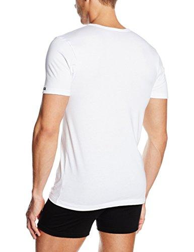 bugatti Herren Unterhemd Basic Weiß (weiss)