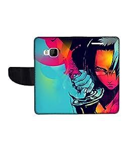 KolorEdge Printed Flip Cover For HTC One M9 Multicolor - (1478-50KeMLogo12009HTCM9)