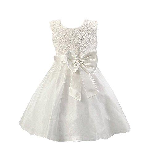 DAYAN flor de las muchachas de boda formal 90cm ropa de dama de honor de la princesa fiesta de bautismo para niños vestido Color