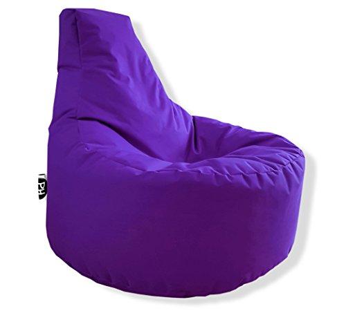 Patchhome Gamer Kissen Lounge Kissen Sitzsack Sessel Sitzkissen In & Outdoor geeignet fertig befüllt - Lila - in 25 Farben