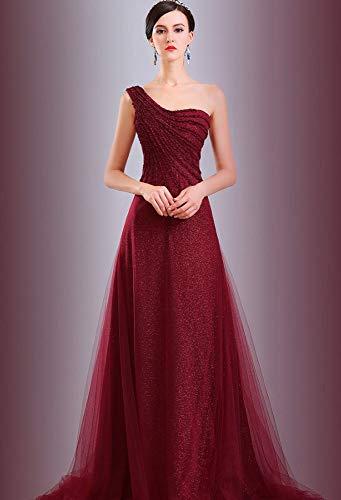 Kostüm Weibliche Promi - JJHR Kleider Frauen Promi Party Kleid Elegant Temperament Hochzeitsgastgeber Abendkleid Weiblich Party Kostüm, S