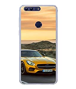 PrintVisa Designer Back Case Cover for Huawei Honor 8 (Sports Speed Safety Helmet Wallpaper Picture Bike)