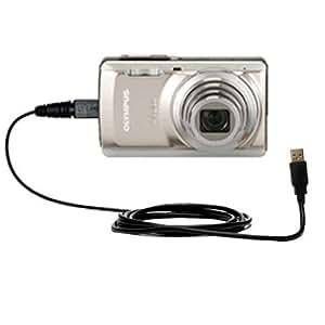 Un Câble USB Charge/HotSync Lisse Pour le Olympus Stylus-7040 Digital Camera - Vous Pouvez Recharger Votre Appareil et Synchroniser vos Données Avec le Même Câble