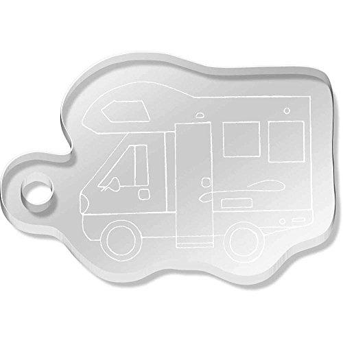 Azeeda 'Motorhome Vehicle' Shaped Acrylic Keyring (AK00048131)