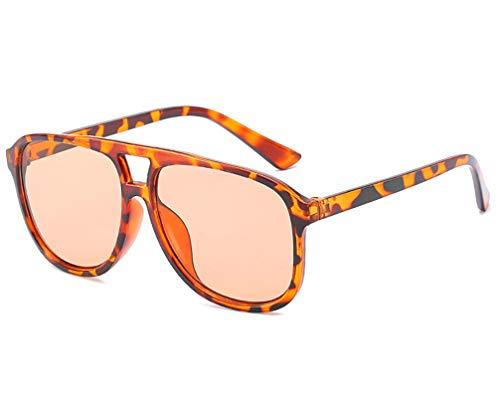 Aeici Sonnenbrillen für Damen Modisch AC + PC Eckige Sonnenbrille Braun Sonnenbrillen