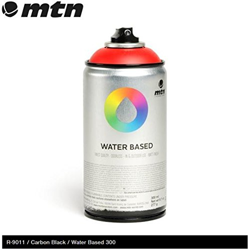 mtn-carbon-black-rv-9011-300ml-water-based-spray-paint