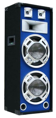 1000W Party DJ PA Lautsprecher Disco Box doppel 30cm BASS Blue-LED E-Lektron SPL230