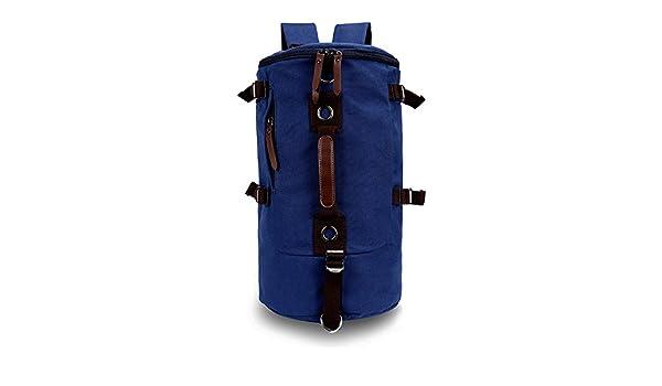 f26cba7443 NIUIEME Retro Duffel Cylinder Bag Canvas Travel Backpack Hiking Shoulder  Handbag  Amazon.co.uk  Sports   Outdoors