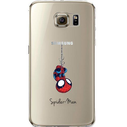 Batman, Catwoman, Harley Quinn, Wonder Woman, Superman, Spider Man, The Hulk, Deadpool Jelly Clear Case für Samsung Galaxy S7Edge, Spiderman