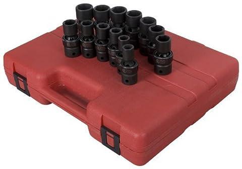Sunex 2665 1/2-Inch Drive Metric Universal Impact Socket Set, 13-Piece by Sunex