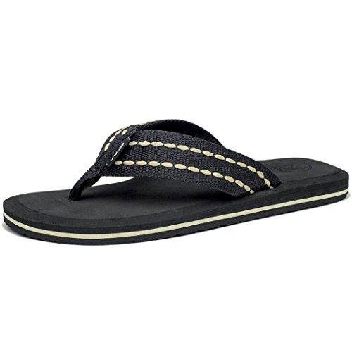 Braun Jungen-flip-flop (NDB Classic Plush Unisex-Erwachsene III Sandalen (40 EU, Schwarz Weiß (Black White)))