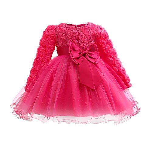 n Stil Blumen Mädchen Kleider 0-2 Jahre mit Ärmeln - kleine Mädchen Tutu Kostüm Kleidung Outfits ()