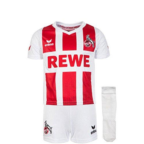 Kleinkind Fußball Jersey (Erima 1. FC Köln Minikit Home 2017/2018 Kleinkinder 92)