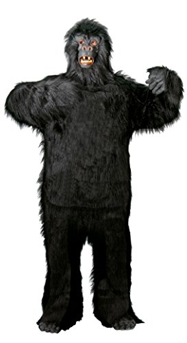 Foxxeo 40088 | Deluxe Gorilla Kostüm für Erwachsene Gr. M - XXXL, Größe:XL