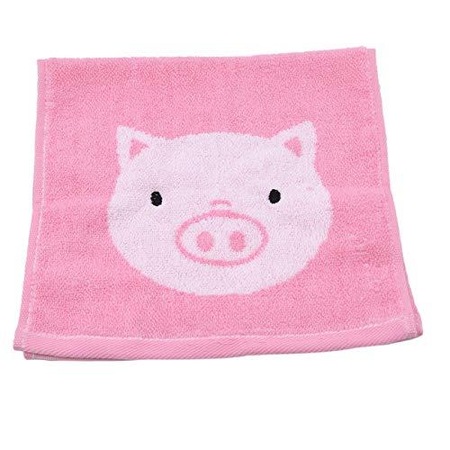 ZALING Baumwolle Gesichtstuch Bad Weiche Hautpflege Haar SPA Duschen Jacquard Handtuch für Kinder Pulver Schwein -