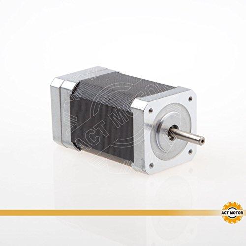 ACT Motor GmbH 1PC BLDC Motor 42BLF03 Nema17 79mm 0.188Nm 78W 4000RPM Round Shaft Ø5mm CNC Machine Robot Automation Scanner 3D-Printer Carver Machine 0.188