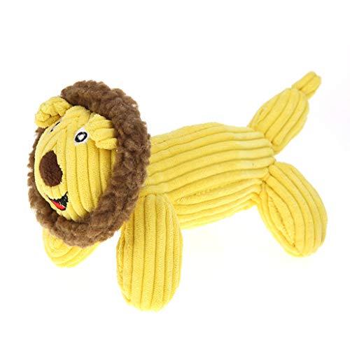 haruuy Hundespielzeug, Vocal-Molar-Bissfestes-Spielzeug,Größe: 20CM X 19CM,Pet Spielzeug Plüsch Hund Gesang Molar Biss-resistente Spielzeug Löwe Krokodil