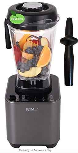 KeMar Kitchenware KSB-200M Hochleistungsmixer, Standmixer, Smoothiemixer, LED Touch Bedienung, 1.500W, 30.000 U/min, 2 Liter, BPA-frei , 6 Programme