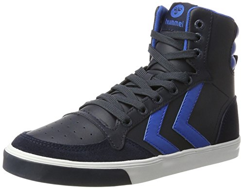 hummel Unisex-Kinder Slimmer Stadil Hohe Sneaker, Blau (Skydiver), 38 EU (Boys Wildleder Turnschuhe)
