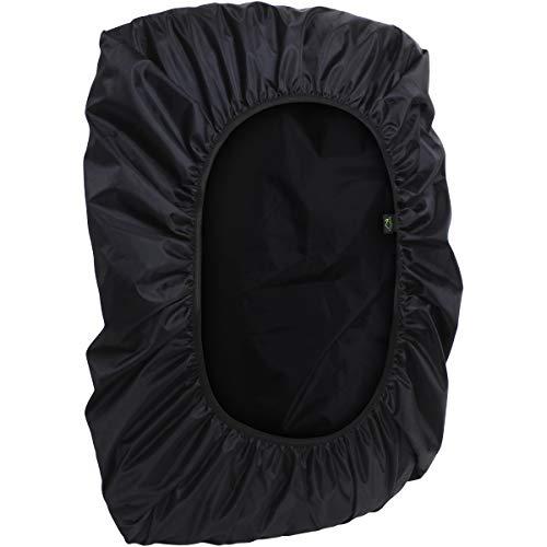 CampTeck U6905 Wasserabweisende Rucksackabdeckung 25L - 40L Regenschutz Rucksack für Fahrradfahren, Laufen, Reisen, Campen, Outdooraktivitäten - Schwarz