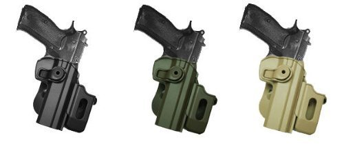 Polymer Retention Roto Holster CZ 75 SP-01 Shadow + Detachable Mag Pouch Black by IMI RSR Defense