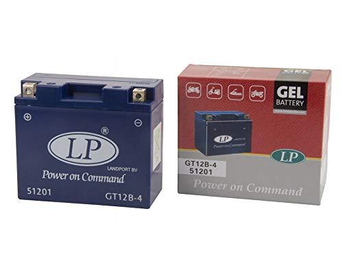 LANDPORT GT12B-4 Gel Batterie 12V 10aH für Aprilia, Ducati, Yamaha [inkl. 7.50 Batteriepfand]
