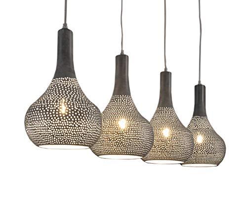 Freudenhaus Hängelampe Industrial Kegel 4 Schirme Betonoptik - Kegel-wand-lampe