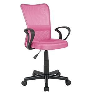 SixBros. Bürostuhl Drehstuhl Schreibtischstuhl Pink H-298F-2/2109