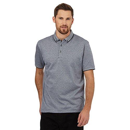 j-by-jasper-conran-mens-navy-textured-spot-polo-shirt-s