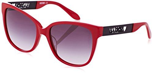 Moschino Eye Occhiali da Sole, Rosso, 58 Donna
