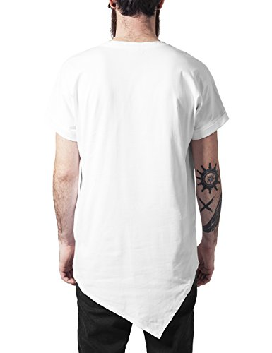 Urban Classics Herren T-Shirt Asymetric Long Tee Weiß (white 220)