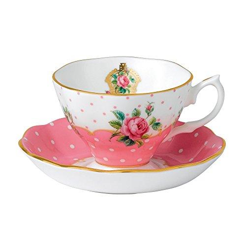 Royal Albert - Juego de taza y plato, diseño vintage, varios colores