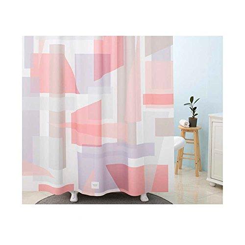 179Deco Rideau de salle de bains en tissu de polyester de qualité supérieure avec salle de bains antibactérienne étanche avec crochets 70 x 74 pouces 70 x 74 pouces Rose bleu