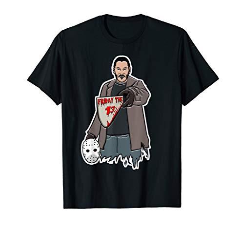 Halloween Lustig John Hund Geschenk Idee Wick Witzig Party T-Shirt (Jason's Freundin Kostüm)