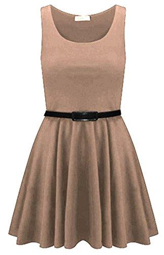 Generic Damen Skater Kleid Mehrfarbig Mehrfarbig One size Stone