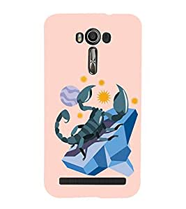 HiFi Designer Phone Back Case Cover Asus Zenfone 2 Laser ZE500KL (5 Inches) ( Scorpio Zodiac Sign )