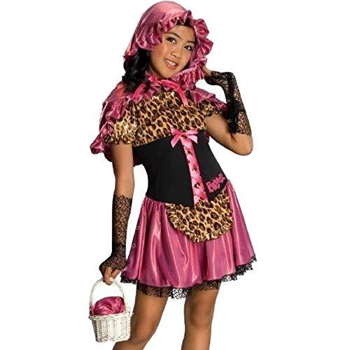 (Bratz Rotkäppchen Mädchen Kinder Fasching Halloween Karneval Kostüm Pink Leopard (104-116))