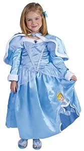 Princesas Disney - Disfraz de Cenicienta de Invierno para niña, infantil 5-6 años (Rubie
