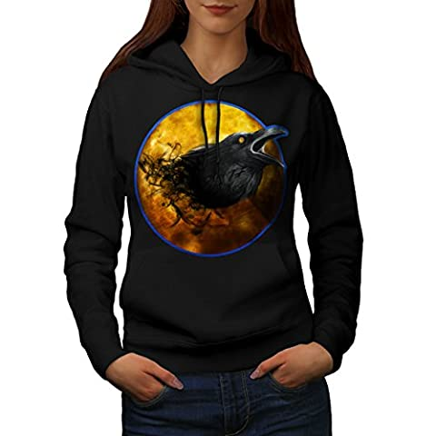 Raven Beast Moon Animal Women S Kapuzenpullover | Wellcoda