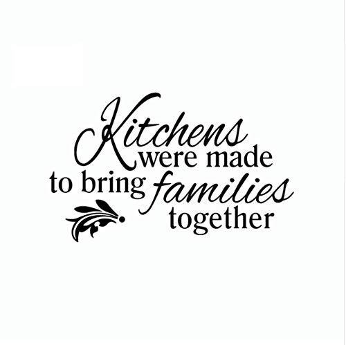 WFYY Küchen gingen zu den Familien von Vinyl wandaufkleber kreative Kunst wanddekoration für zuhause 22x36 cm