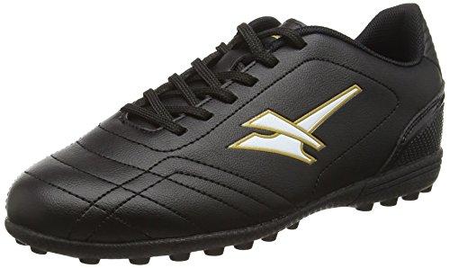Gola Magnaz VX, Jungen Fußballschuhe, Schwarz (Black/Gold), 38 EU