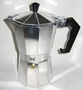 New Traditional 6 Cup Stove Hob Top Espresso Expresso Coffee Maker Moka Pot Sh