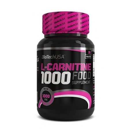 Biotech USA L-Carnitine 1000 mg 60 Tabletten, 1er Pack (1 x 108 g)