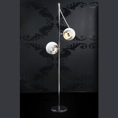 DESIGN 2 KUGEL STEHLEUCHTE LAMPE von DESIGN DELIGHTS stehlampe leuchte weiß standlampe von XTRADEFACTORY GMBH - Lampenhans.de